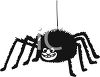 Furry Black Cartoon Spider clipart