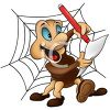 Cute Cartoon Spider Writing a List clipart