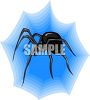 Black Widow from the Side clipart