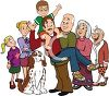 Family Posing for a Portrait clipart