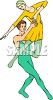 Ballet Dancer Lifting His Partner clipart