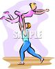 Female Ballet Dancer Lifted by Her Partner clipart