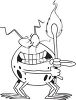 Cartoon of a Fire Bug Holding a Match clipart