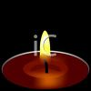 Wick of a Burning Candle clipart