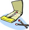 Almost Empty Book of Matches clipart