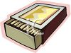 Box of Wooden Matches clipart