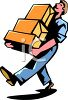 Man Carrying Some Boxes clipart