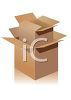 Empty Boxes for Moving or Storing Things clipart