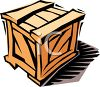 Wooden Packing Crate clipart