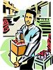 Man Working in a Factory that Makes Food Products clipart