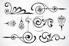 Collection of Swirly Embellishments clipart