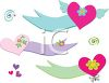 Collection of Whimsical Heart Banners clipart