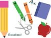 Collection of Back to School Supplies clipart