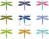 Collection of Whimsical Dragonflies clipart