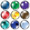 Very Glossy Metallic Buttons clipart