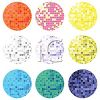 Collection of Different Colored Disco Balls clipart