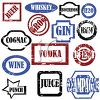 Collection of Alcoholic Beverage Tags or Labels clipart