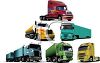 Collection of Realistic Semi Trucks clipart