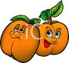 Happy Animated Cartoon Apricots clipart