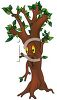 Animated Cartoon Tree with a Face clipart