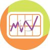 Line Graph Icon for the Medical Field clipart