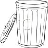 Metal Trash Can with the Lid Off clipart