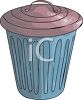 Small Plastic Trash Can clipart