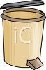Kitchen Garbage Can with a Foot Lever clipart