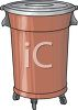Plastic Garbage Can on Rollers clipart