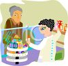 Pharmacist Helping an Elderly Woman with Medication clipart