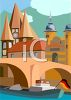 Travel Ad Germany clipart