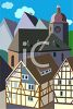 Travel Ad Bavarian Village clipart