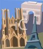 Travel Ad for France clipart