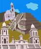 Travel Ad for Mexican Pyramids clipart