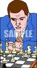 Professional chess player concentrating clipart