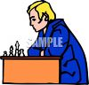 Man playing chess clipart