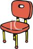 Cartoon of a Kitchen Chair clipart