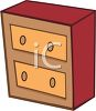 Cartoon Dresser clipart