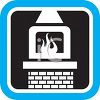 Household Icon of a Fireplace clipart