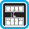 Kitchen Cupboards Icon  clipart
