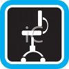 Task Desk Chair Icon clipart