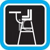 Kids High Chair Icon clipart