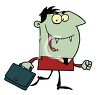 Vampire Going Off to His Day Job clipart
