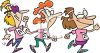 Women Power Walking for Charity clipart