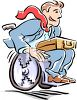 Handicapped Businessman in a Wheelchair clipart