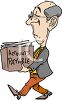 Finance Manager Carrying a Box of Accounts Payable Receipts clipart