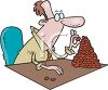 Metaphor Slang for Accountant-Bean Counter clipart