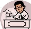 African American Accountant Cartoon clipart