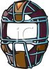 Protective Catcher's Mask clipart