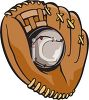 Catcher's Mitt with a Baseball in the Web clipart
